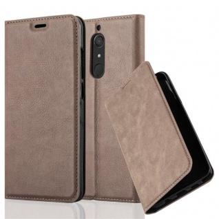Cadorabo Hülle für WIKO VIEW XL in KAFFEE BRAUN Handyhülle mit Magnetverschluss, Standfunktion und Kartenfach Case Cover Schutzhülle Etui Tasche Book Klapp Style