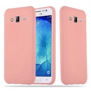 Cadorabo Hülle für Samsung Galaxy J5 2015 in CANDY ROSA - Handyhülle aus flexiblem TPU Silikon - Silikonhülle Schutzhülle Ultra Slim Soft Back Cover Case Bumper - Vorschau 1