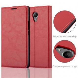 Cadorabo Hülle für WIKO ROBBY in APFEL ROT Handyhülle mit Magnetverschluss, Standfunktion und Kartenfach Case Cover Schutzhülle Etui Tasche Book Klapp Style - Vorschau 2