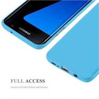 Cadorabo Hülle für Samsung Galaxy S7 EDGE in JELLY HELL BLAU ? Handyhülle aus flexiblem TPU Silikon ? Silikonhülle Schutzhülle Ultra Slim Soft Back Cover Case Bumper - Vorschau 4