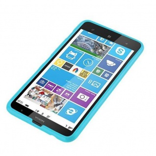 Cadorabo Hülle für Nokia Lumia 1320 in JELLY HELL BLAU - Handyhülle aus flexiblem TPU Silikon - Silikonhülle Schutzhülle Ultra Slim Soft Back Cover Case Bumper - Vorschau 2
