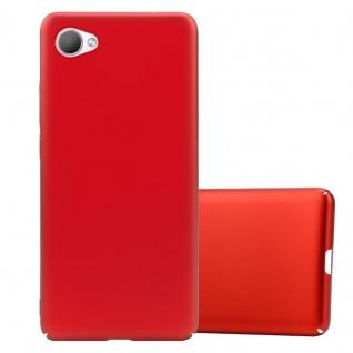 Cadorabo Hülle für HTC Desire 12 in METALL ROT Hardcase Handyhülle aus Plastik gegen Kratzer und Stöße Schutzhülle Bumper Ultra Slim Back Case Hard Cover