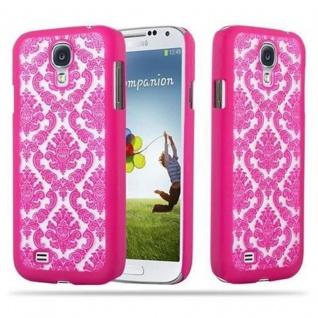 Samsung Galaxy S4 Hardcase Hülle in PINK von Cadorabo - Blumen Paisley Henna Design Schutzhülle ? Handyhülle Bumper Back Case Cover