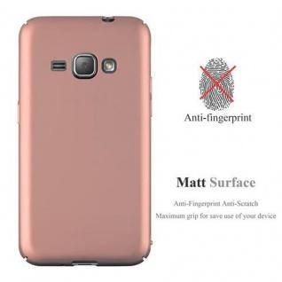 Cadorabo Hülle für Samsung Galaxy J1 2016 in METALL ROSE GOLD ? Hardcase Handyhülle aus Plastik gegen Kratzer und Stöße ? Schutzhülle Bumper Ultra Slim Back Case Hard Cover - Vorschau 2