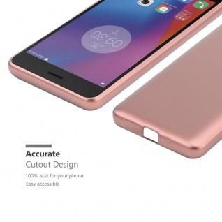 Cadorabo Hülle für Lenovo K6 / K6 POWER in METALLIC ROSÉ GOLD - Handyhülle aus flexiblem TPU Silikon - Silikonhülle Schutzhülle Ultra Slim Soft Back Cover Case Bumper - Vorschau 5