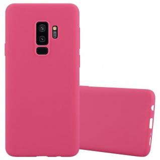 Cadorabo Hülle für Samsung Galaxy S9 PLUS in CANDY ROT - Handyhülle aus flexiblem TPU Silikon - Silikonhülle Schutzhülle Ultra Slim Soft Back Cover Case Bumper