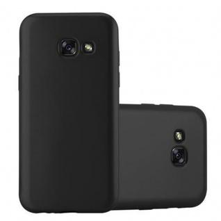 Cadorabo Hülle für Samsung Galaxy A5 2017 in METALLIC SCHWARZ - Handyhülle aus flexiblem TPU Silikon - Silikonhülle Schutzhülle Ultra Slim Soft Back Cover Case Bumper
