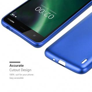Cadorabo Hülle für Nokia 2 2017 in METALLIC BLAU - Handyhülle aus flexiblem TPU Silikon - Silikonhülle Schutzhülle Ultra Slim Soft Back Cover Case Bumper - Vorschau 5