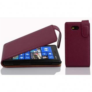 Cadorabo Hülle für Nokia Lumia 820 in BORDEAUX LILA - Handyhülle im Flip Design aus strukturiertem Kunstleder - Case Cover Schutzhülle Etui Tasche Book Klapp Style