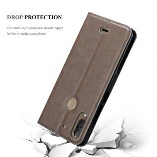 Cadorabo Hülle für WIKO VIEW 2 PLUS in KAFFEE BRAUN - Handyhülle mit Magnetverschluss, Standfunktion und Kartenfach - Case Cover Schutzhülle Etui Tasche Book Klapp Style - Vorschau 5