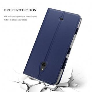 Cadorabo Hülle für Nokia Lumia 1320 in CLASSY DUNKEL BLAU - Handyhülle mit Magnetverschluss, Standfunktion und Kartenfach - Case Cover Schutzhülle Etui Tasche Book Klapp Style - Vorschau 5