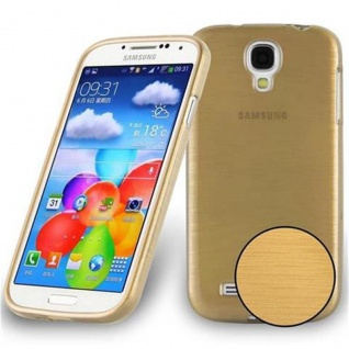 Cadorabo Hülle für Samsung Galaxy S4 in GOLD - Handyhülle aus flexiblem TPU Silikon - Silikonhülle Schutzhülle Ultra Slim Soft Back Cover Case Bumper