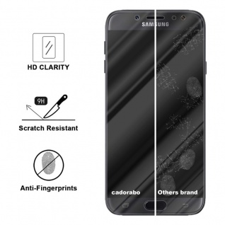 Cadorabo Panzer Folie für Samsung Galaxy J7 2018 - Schutzfolie in KRISTALL KLAR - Gehärtetes (Tempered) Display-Schutzglas in 9H Härte mit 3D Touch Kompatibilität - Vorschau 3