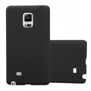Cadorabo Hülle für Samsung Galaxy NOTE EDGE in FROSTY SCHWARZ - Hardcase Handyhülle aus Plastik gegen Kratzer und Stöße - Schutzhülle Bumper Ultra Slim Back Case Hard Cover