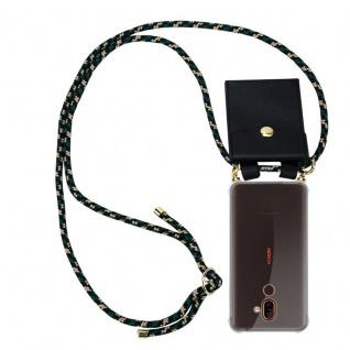 Cadorabo Handy Kette für Nokia 7 PLUS in CAMOUFLAGE - Silikon Necklace Umhänge Hülle mit Gold Ringen, Kordel Band Schnur und abnehmbarem Etui ? Schutzhülle