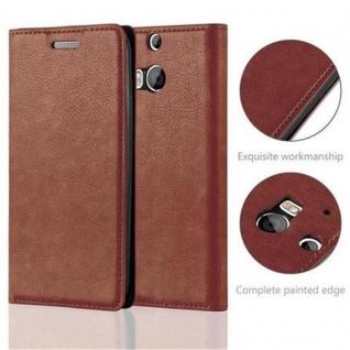 Cadorabo Hülle für HTC ONE M8 (2.Generation) in CAPPUCCINO BRAUN - Handyhülle mit Magnetverschluss, Standfunktion und Kartenfach - Case Cover Schutzhülle Etui Tasche Book Klapp Style - Vorschau 2