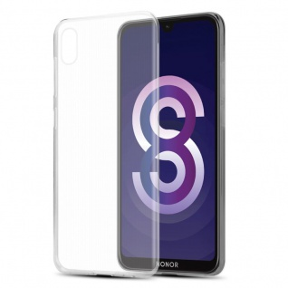 Cadorabo Hülle für Honor 8S in VOLL TRANSPARENT Handyhülle aus flexiblem TPU Silikon Silikonhülle Schutzhülle Ultra Slim Soft Back Cover Case Bumper