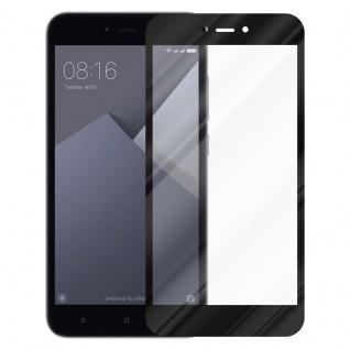 Cadorabo Vollbild Panzer Folie für Xiaomi Red Mi NOTE 5A - Schutzfolie in TRANSPARENT mit SCHWARZ - Gehärtetes (Tempered) Display-Schutzglas in 9H Härte mit 3D Touch Kompatibilität - Vorschau 2