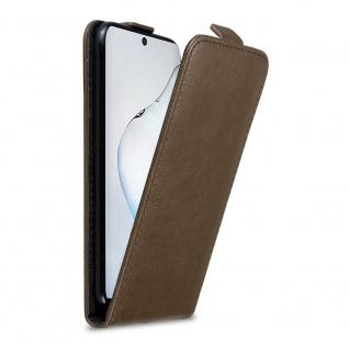 Cadorabo Hülle für Samsung Galaxy NOTE 10 in KAFFEE BRAUN Handyhülle im Flip Design mit Magnetverschluss Case Cover Schutzhülle Etui Tasche Book Klapp Style