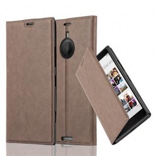 Cadorabo Hülle für Nokia Lumia 1520 in KAFFEE BRAUN - Handyhülle mit Magnetverschluss, Standfunktion und Kartenfach - Case Cover Schutzhülle Etui Tasche Book Klapp Style
