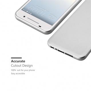 Cadorabo Hülle für HTC ONE A9 in METALLIC SILBER - Handyhülle aus flexiblem TPU Silikon - Silikonhülle Schutzhülle Ultra Slim Soft Back Cover Case Bumper - Vorschau 5