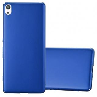 Cadorabo Hülle für Sony Xperia XA in METALL BLAU Hardcase Handyhülle aus Plastik gegen Kratzer und Stöße Schutzhülle Bumper Ultra Slim Back Case Hard Cover