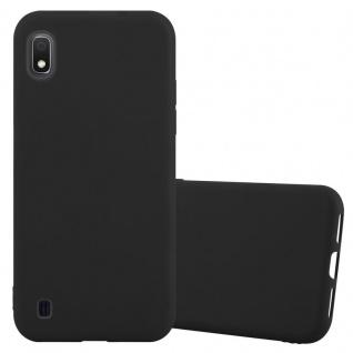 Cadorabo Hülle für Samsung Galaxy A10 in CANDY SCHWARZ - Handyhülle aus flexiblem TPU Silikon - Silikonhülle Schutzhülle Ultra Slim Soft Back Cover Case Bumper
