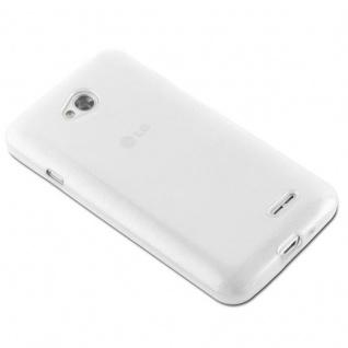 Cadorabo Hülle für LG L70 (1.SIM) in SILBER - Handyhülle aus flexiblem TPU Silikon - Silikonhülle Schutzhülle Ultra Slim Soft Back Cover Case Bumper - Vorschau 3