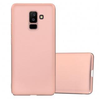 Cadorabo Hülle für Samsung Galaxy A6 PLUS 2018 in METALL ROSÉ GOLD - Hardcase Handyhülle aus Plastik gegen Kratzer und Stöße - Schutzhülle Bumper Ultra Slim Back Case Hard Cover