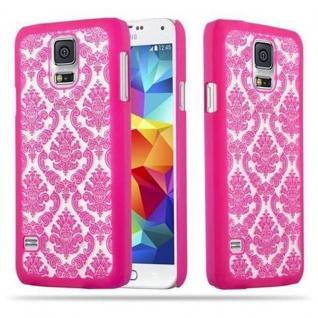 Samsung Galaxy S5 / S5 NEO Hardcase Hülle in PINK von Cadorabo - Blumen Paisley Henna Design Schutzhülle ? Handyhülle Bumper Back Case Cover