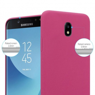 Cadorabo Hülle für Samsung Galaxy J5 2017 in FROSTY PINK - Hardcase Handyhülle aus Plastik gegen Kratzer und Stöße - Schutzhülle Bumper Ultra Slim Back Case Hard Cover - Vorschau 2