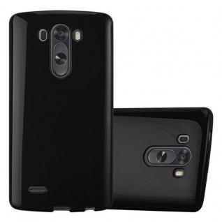Cadorabo Hülle für LG G3 in JELLY SCHWARZ ? Handyhülle aus flexiblem TPU Silikon ? Silikonhülle Schutzhülle Ultra Slim Soft Back Cover Case Bumper