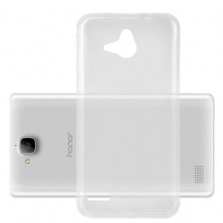 Cadorabo Hülle für Honor 3C in VOLL TRANSPARENT Handyhülle aus flexiblem TPU Silikon Silikonhülle Schutzhülle Ultra Slim Soft Back Cover Case Bumper