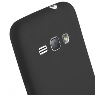 Cadorabo Hülle für Samsung Galaxy J1 2016 in CANDY SCHWARZ - Handyhülle aus flexiblem TPU Silikon - Silikonhülle Schutzhülle Ultra Slim Soft Back Cover Case Bumper - Vorschau 5