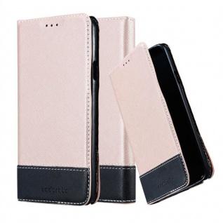 Cadorabo Hülle für Samsung Galaxy NOTE 3 NEO in ROSÉ GOLD SCHWARZ ? Handyhülle mit Magnetverschluss, Standfunktion und Kartenfach ? Case Cover Schutzhülle Etui Tasche Book Klapp Style