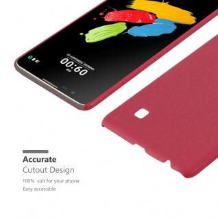 Cadorabo Hülle für LG Stylus 2 in FROSTY ROT - Hardcase Handyhülle aus Plastik gegen Kratzer und Stöße - Schutzhülle Bumper Ultra Slim Back Case Hard Cover - Vorschau 5