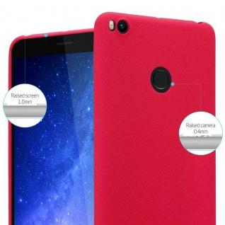 Cadorabo Hülle für Xiaomi Mi Max 2 in FROST ROT - Handyhülle aus flexiblem TPU Silikon - Silikonhülle Schutzhülle Ultra Slim Soft Back Cover Case Bumper - Vorschau 5