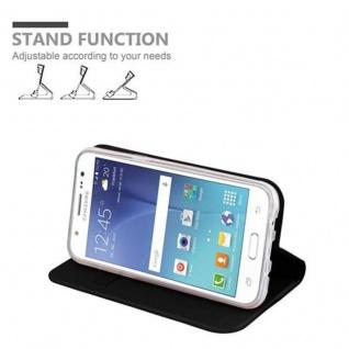 Cadorabo Hülle für Samsung Galaxy J5 2015 in CLASSY SCHWARZ - Handyhülle mit Magnetverschluss, Standfunktion und Kartenfach - Case Cover Schutzhülle Etui Tasche Book Klapp Style - Vorschau 4