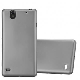 Cadorabo Hülle für Sony Xperia C4 in METALLIC GRAU - Handyhülle aus flexiblem TPU Silikon - Silikonhülle Schutzhülle Ultra Slim Soft Back Cover Case Bumper