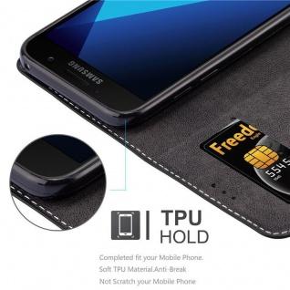 Cadorabo Hülle für Samsung Galaxy A3 2017 in SCHWARZ BRAUN ? Handyhülle mit Magnetverschluss, Standfunktion und Kartenfach ? Case Cover Schutzhülle Etui Tasche Book Klapp Style - Vorschau 2