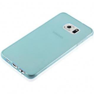 Cadorabo Hülle für Samsung Galaxy S6 EDGE PLUS in TRANSPARENT BLAU - Handyhülle aus flexiblem TPU Silikon - Silikonhülle Schutzhülle Ultra Slim Soft Back Cover Case Bumper - Vorschau 3