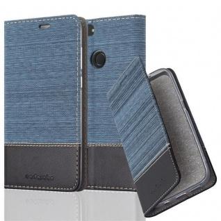 Cadorabo Hülle für Huawei P SMART 2018 / Enjoy 7S in DUNKEL BLAU SCHWARZ Handyhülle mit Magnetverschluss, Standfunktion und Kartenfach Case Cover Schutzhülle Etui Tasche Book Klapp Style