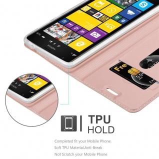 Cadorabo Hülle für Nokia Lumia 1520 in CLASSY ROSÉ GOLD - Handyhülle mit Magnetverschluss, Standfunktion und Kartenfach - Case Cover Schutzhülle Etui Tasche Book Klapp Style - Vorschau 2