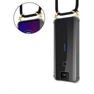 Cadorabo Handy Kette für Asus ZenFone 6 in SCHWARZ - Silikon Necklace Umhänge Hülle mit Gold Ringen, Kordel Band Schnur und abnehmbarem Etui ? Schutzhülle - Vorschau 5