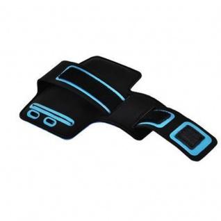 Cadorabo - Neopren Smartphone Sport Armband Fitnessstudio Jogging Armband Oberarmtasche kompatibel mit 4.5 - 5.0 Zoll Handys wie z. B. Apple iPhone 6 / 6S, 8 / 7 / 7S, Samsung Galaxy A3, HTC ONE A9 usw. mit Schlüsselfach und Kopfhöreranschluss in GRÜ - Vorschau 4