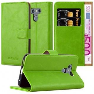 Cadorabo Hülle für LG G6 in GRAS GRÜN - Handyhülle mit Magnetverschluss, Standfunktion und Kartenfach - Case Cover Schutzhülle Etui Tasche Book Klapp Style