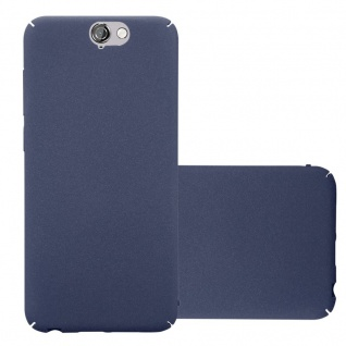 Cadorabo Hülle für HTC One A9 in FROSTY BLAU - Hardcase Handyhülle aus Plastik gegen Kratzer und Stöße - Schutzhülle Bumper Ultra Slim Back Case Hard Cover
