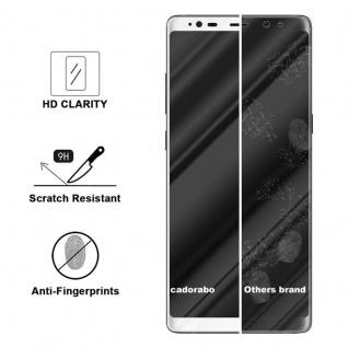 Cadorabo Vollbild Panzer Folie für Samsung Galaxy NOTE 8 - Schutzfolie in TRANSPARENT mit WEISS - Gehärtetes (Tempered) Display-Schutzglas in 9H Härte mit 3D Touch Kompatibilität - Vorschau 3