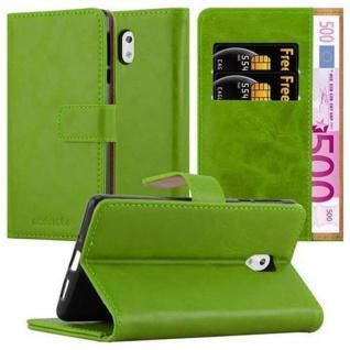 Cadorabo Hülle für Nokia 3 2017 in GRAS GRÜN Handyhülle mit Magnetverschluss, Standfunktion und Kartenfach Case Cover Schutzhülle Etui Tasche Book Klapp Style