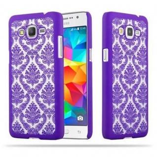 Samsung Galaxy GRAND PRIME Hardcase Hülle in LILA von Cadorabo - Blumen Paisley Henna Design Schutzhülle ? Handyhülle Bumper Back Case Cover